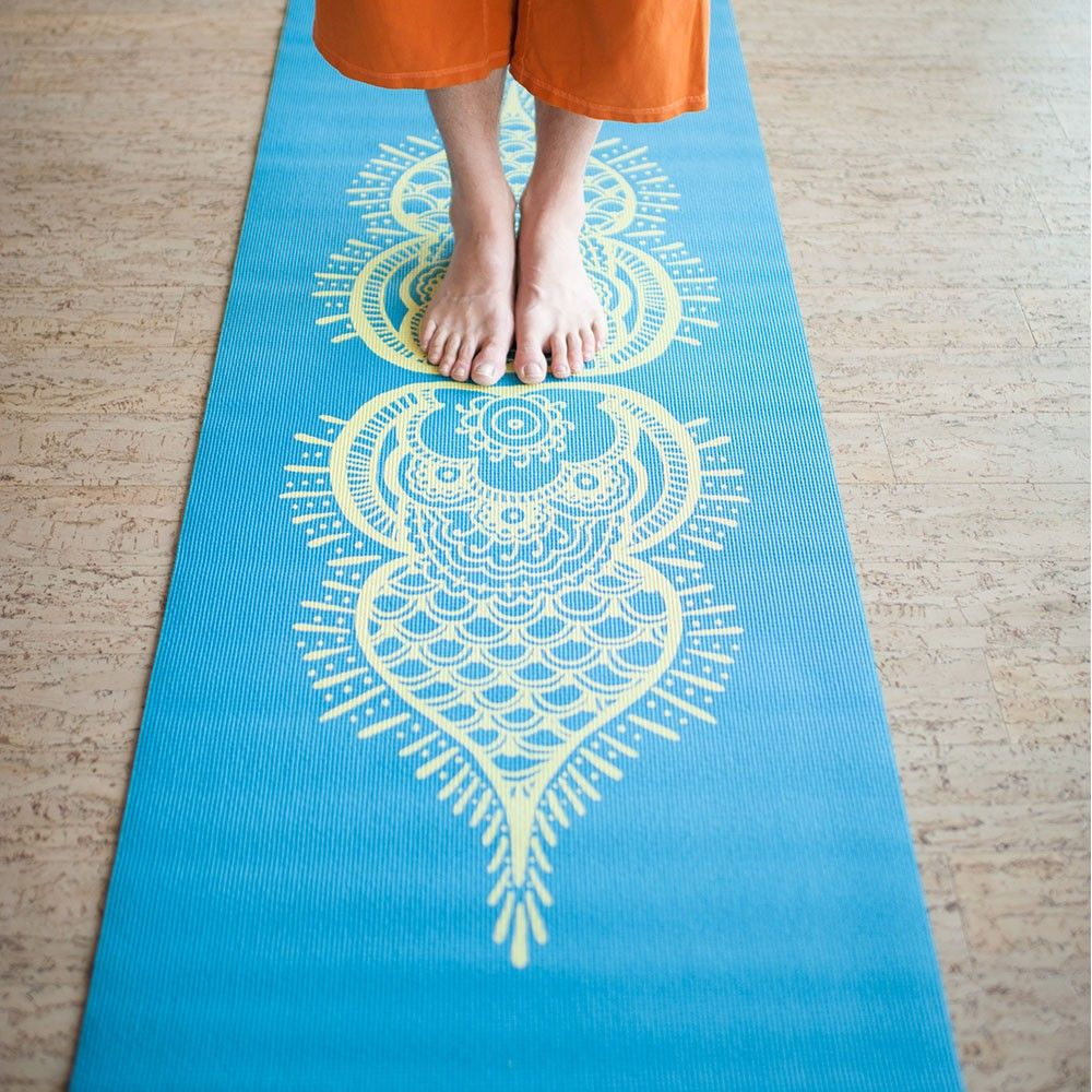 fitness from mat materials design thickness printed unique mats gymnastics yoga for chastep sports item pvc length with bag in