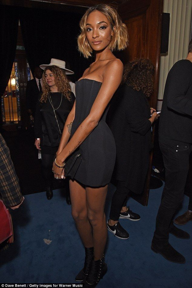 Jourdan Dunn puts on extremely busty display in black bodycon at Brits - Celebrity Fashion Trends