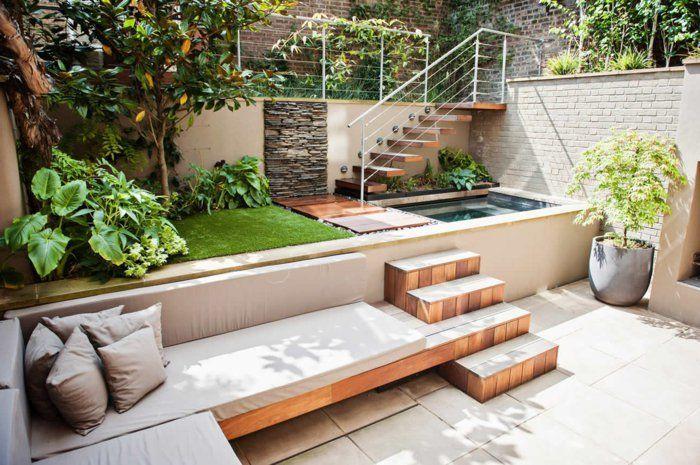 Gartenideen Treppen Trennen Bereiche Diy Und Garten Garten Gestalten Garten Gestalten Ideen Terassenentwurf