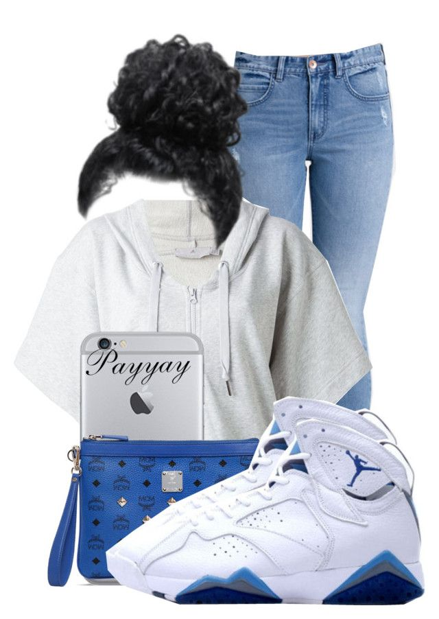 cb63558ca2a5 Air Jordan Retro 7 French Blue Outfit ! by payyay ❤ liked on Polyvore  featuring Billabong