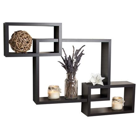 Found It At Wayfair Intersecting Wall Shelf In Espresso