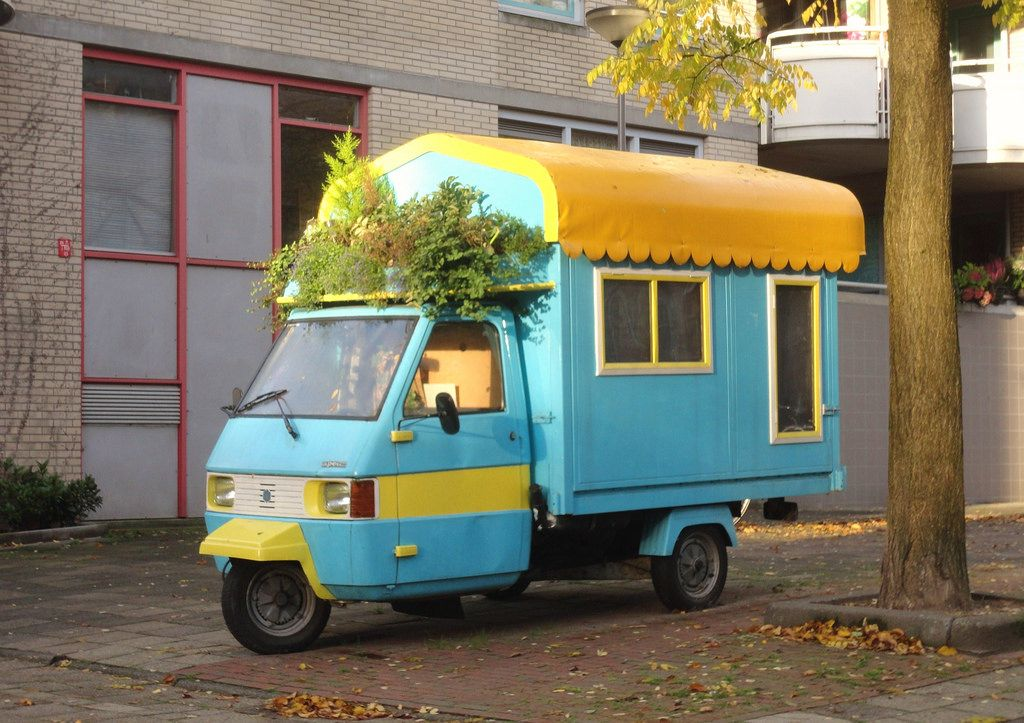 piaggio ape tm camper. we could go places in this! | on the road