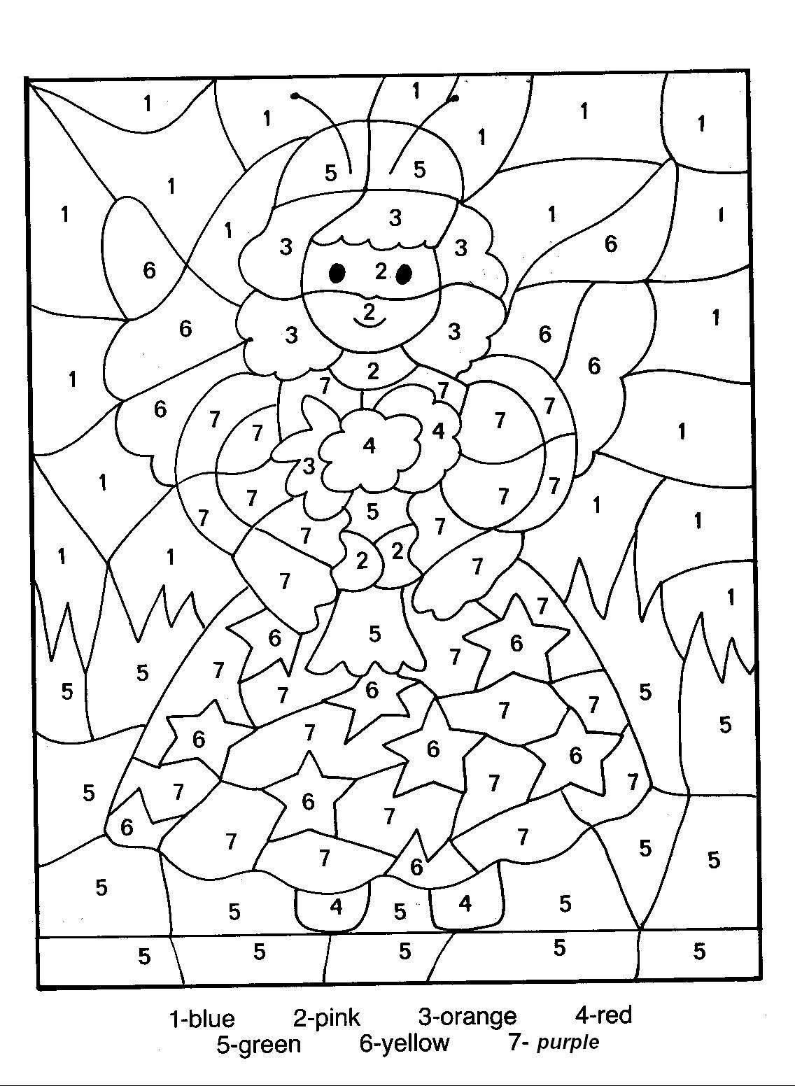 25 Coloring Page With Numbers   Fairy coloring pages, Christmas ...