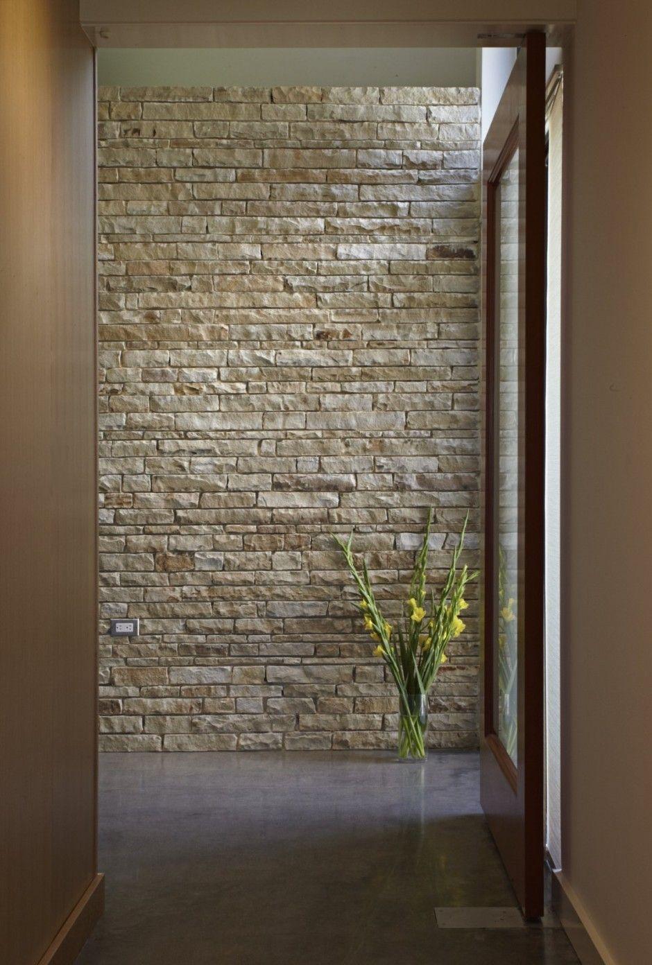 Stonework as art wall idea pinterest foyers bricks and stone