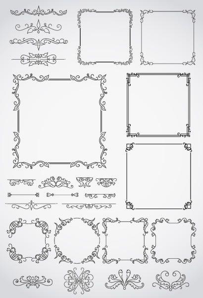 飾り罫線フレーム枠 ベクターイラスト素材 保育園卒園文集 フレーム