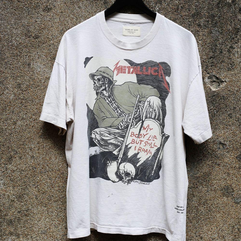 22eee5cd111 Image of NEW FEAR OF GOD - Resurrected Vintage Tee Metallica Blood Skater  Style