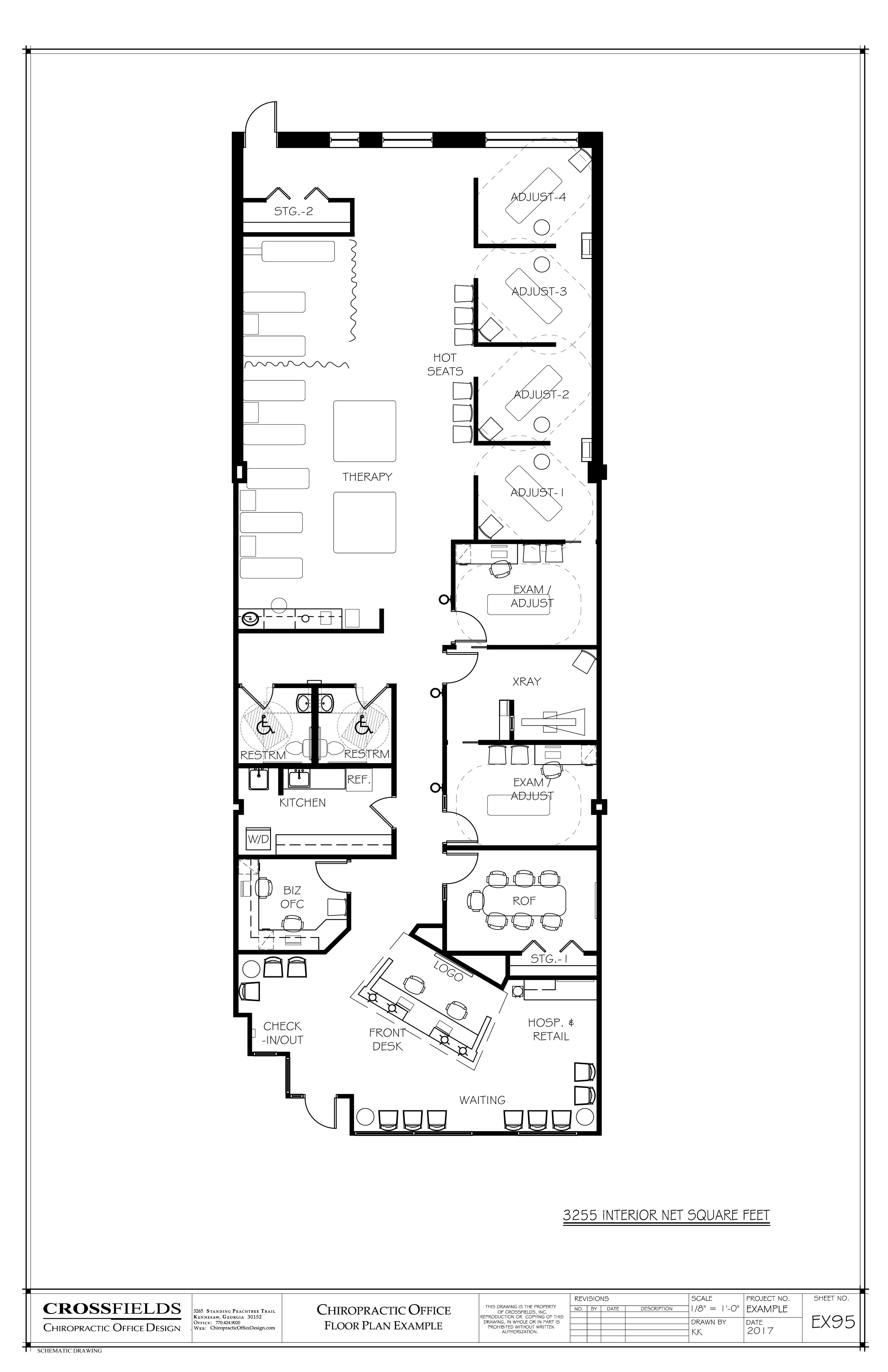 Example of chiropractic office floor plan multi doctor for Chiropractic office layout examples
