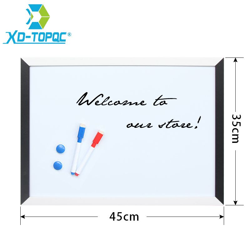 XINDI 35*45cm Magnetic Drawing Board MDF Black & White Frame Wooden ...