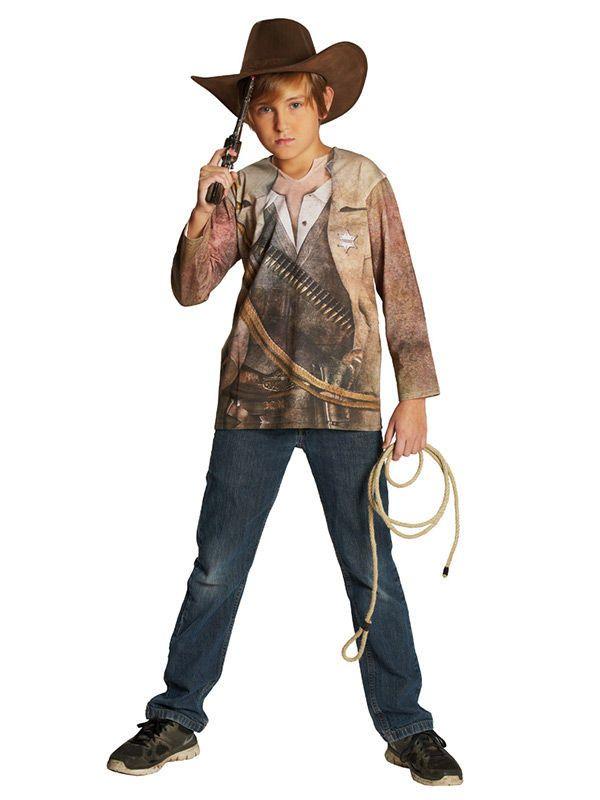 cowboy shirt kinderkost m wildwest braun beige schnell