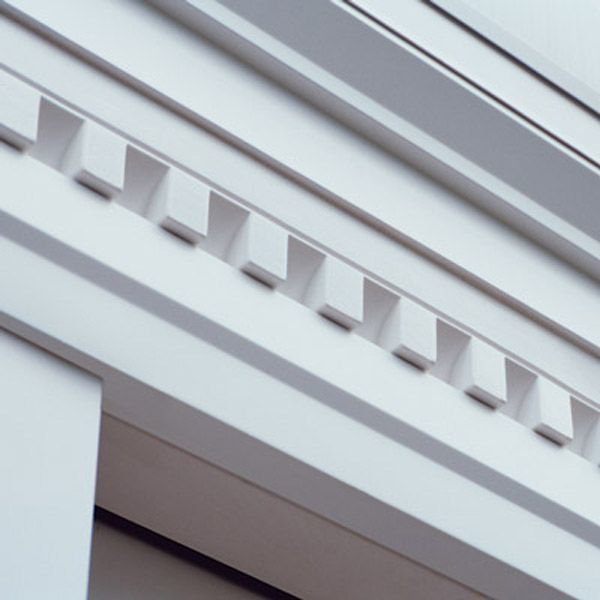 Simple Dental Strip Door Surround Manufactured By Mastic Home Exteriors Exterior House Colors Dentil Moulding Building Front