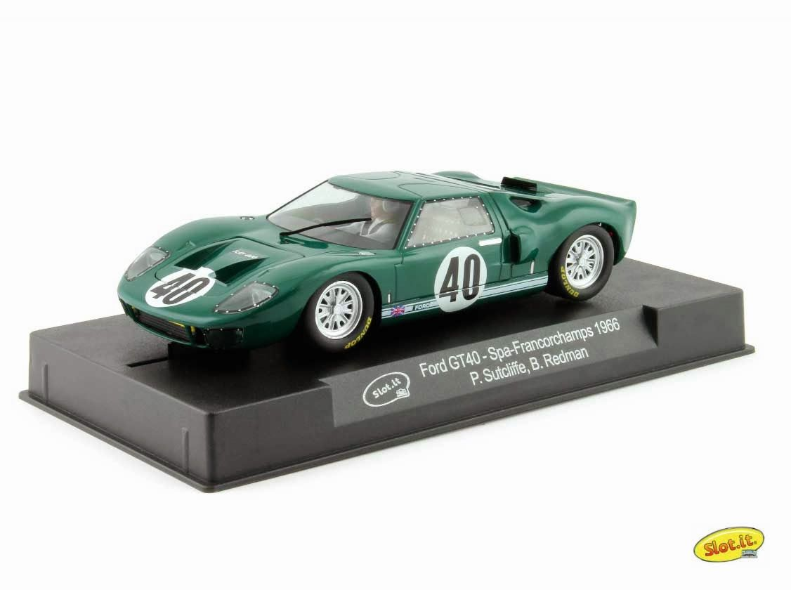 Slot car, Slot.it Ford GT40 Mk. I, CA18c, 'Peter Sutcliffe Limited', 1000km Spa-Francorchamps 1966