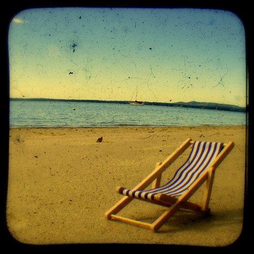 Cadeira de praia: Não é para cotas, é para as costas.