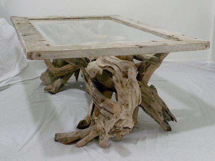 Pin Von Lynn Kompinski Auf Driftwood Bois Flotte Couchtisch