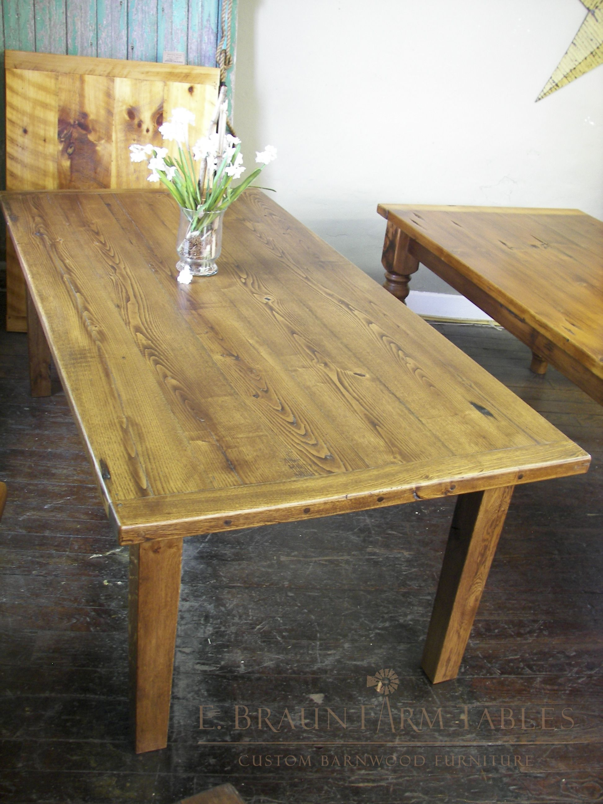 Lovely 7u0027 Long Reclaimed American Chestnut Farm Table, Crafted By E. Braun Farm  Tables And Furniture™   We Use Wood From Dismantled Barns And Log Homes  Dating From ...