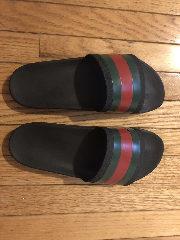 e862029ea9dd Gucci Pursuit 72 Black Slides US mens size 11  fashion  clothing  shoes