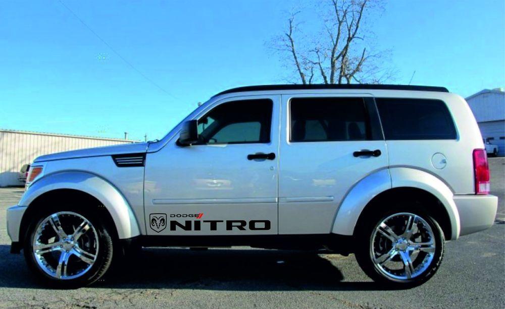 Dodge Nitro 2x Racing Stickers Logo Of Two Colors Graphics Vinyl