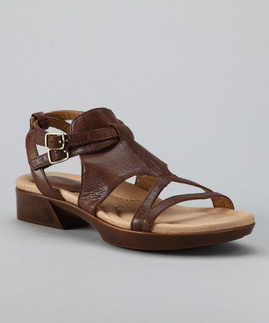 Take a look at this Bat Brown Tabasco Sandal by Earth on
