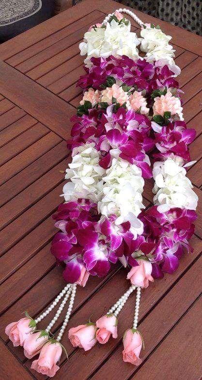 Orchid Garland Flower Garland Wedding Indian Wedding Garland Flower Garland Diy