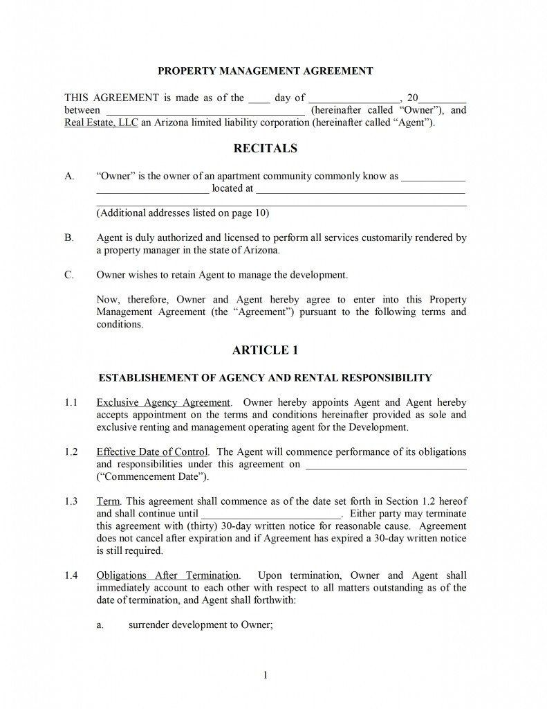 28 Property Maintenance Contract Template Free In 2020 Contract