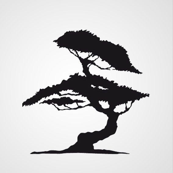 Rozenboom - Muurstickers, Silhouet en Ambachtelijke patronen