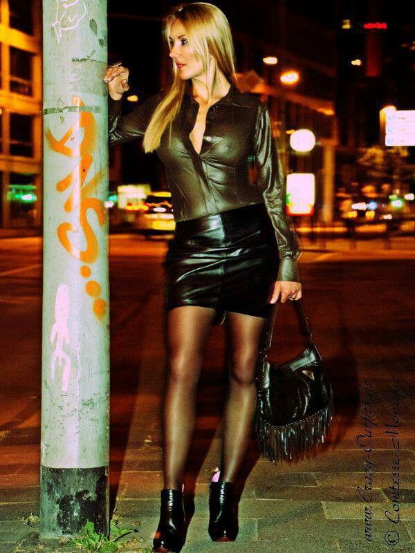 Pin By David Fisher On My Style Black Leather Mini Skirt