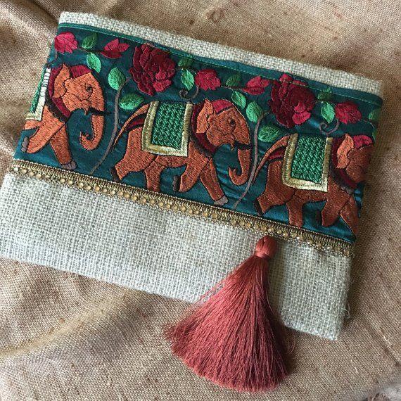 b3dd157c0 Elephant Bohemian Clutch Boho Bag Fashion Bag Womens   Etsy   BOLSAS ...