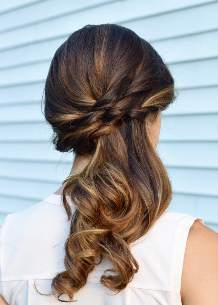 Side Swept Twisted Hairstyle Hair Styles Side Ponytail Wedding Hairstyles Bridesmaid Hair Casual