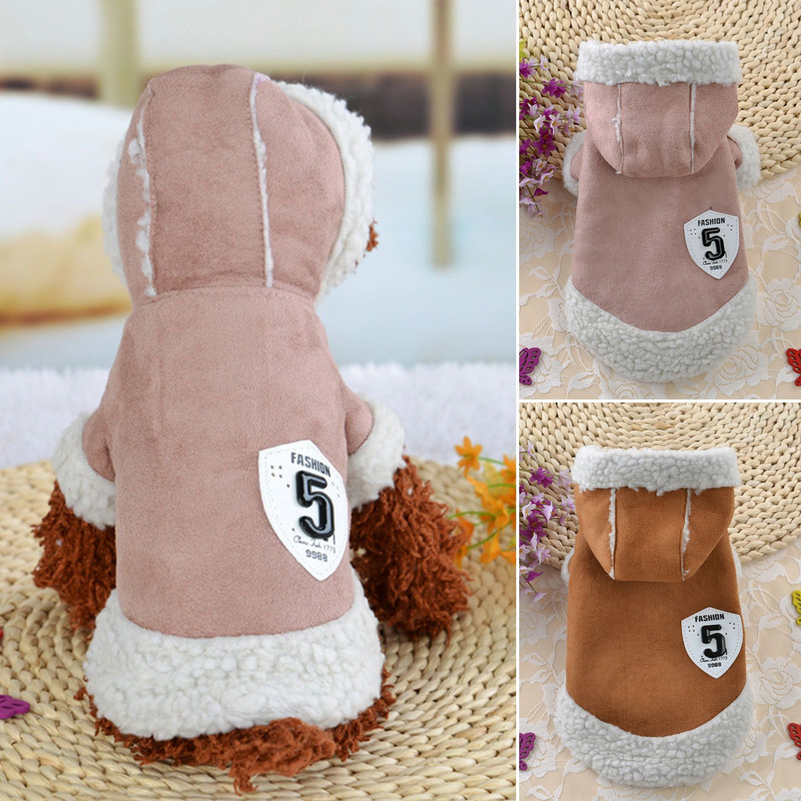 Pet Coat Dog Jacket Winter Clothe Puppy Cat Sweater Hoodie Coat ...