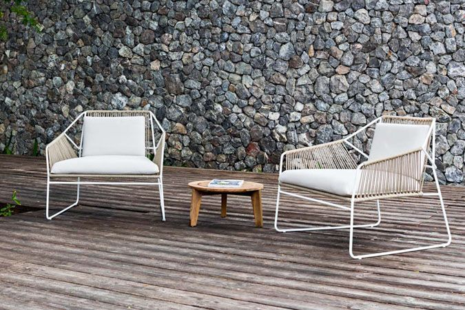 Sandur Club Chair Full Woven Metal Outdoor Chairs Outdoor Chairs Outdoor Garden Furniture