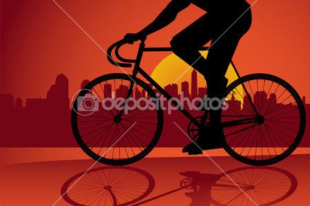 Fixed gear bicycle rider — Stock Illustration #4575130
