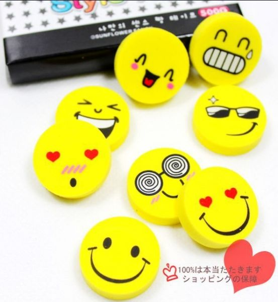Happy Smiley Face stationery Pencils with rubber for school party filler bags