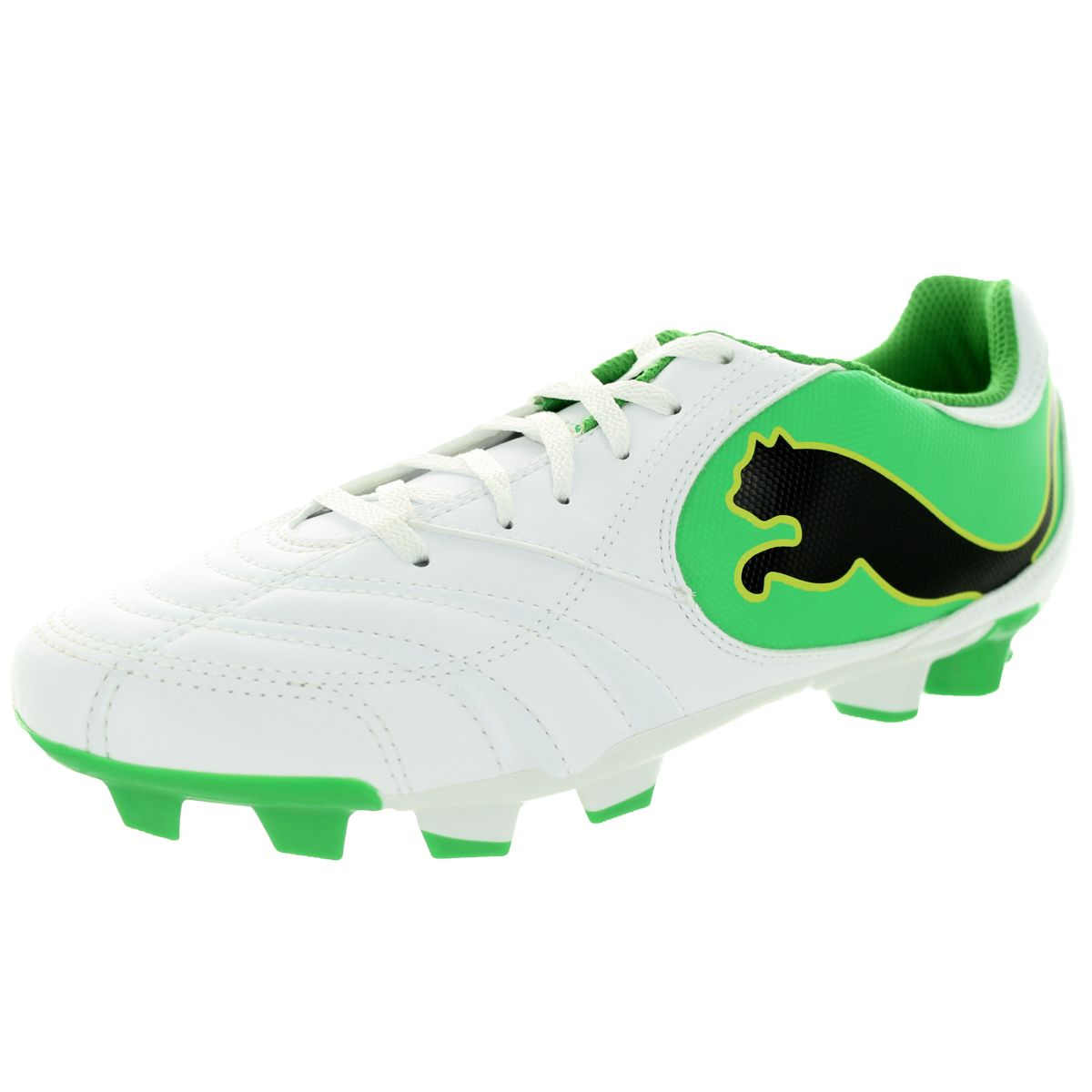 Puma Men's Powercat 4.10 Ii Fg /Black/Island Green/Limeade Soccer Cleat