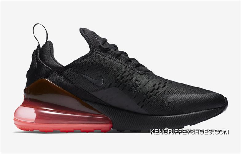 New Release Mens Nike Air Max 270 Hot Punch Shoes Black