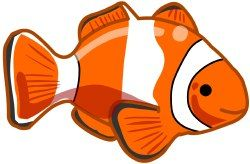 clownfish clipart 1 vizi l vil g water habitat pinterest clip rh pinterest com clown fish clip art black and white