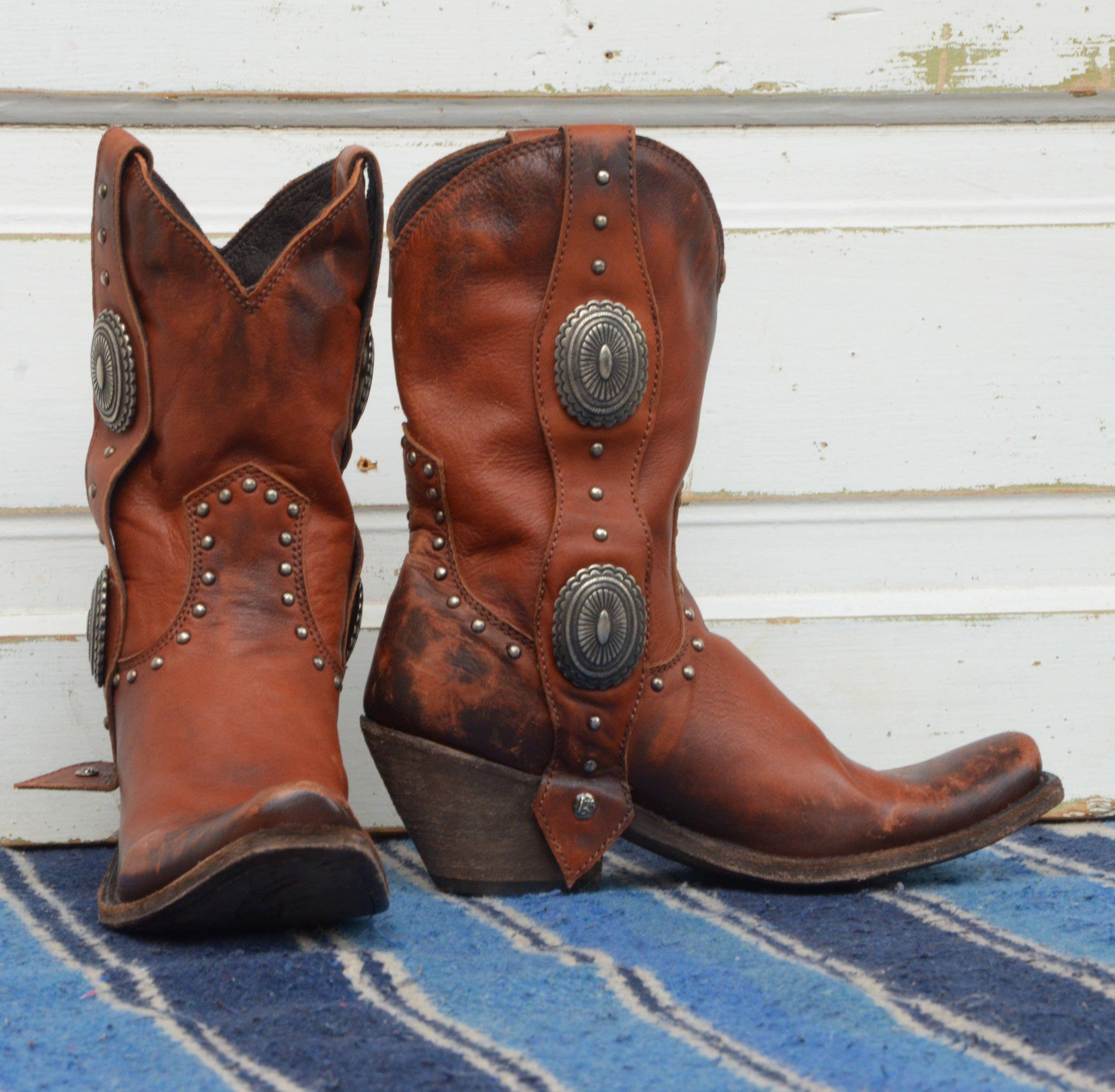 liberty black concho boots