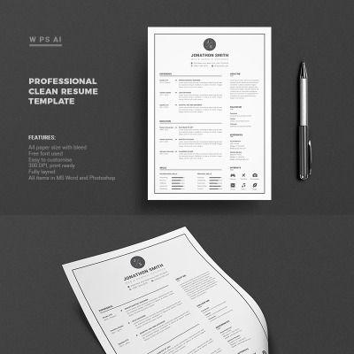 Resume John Smith Premium Resume Template  Design Inspiration