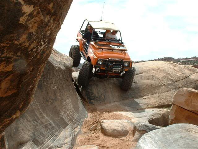 Lifted Suzuki Samurai Rock Crawler In Moab Utah Modified