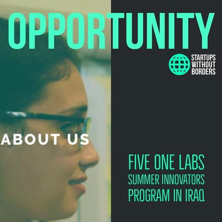 Great  Opportunity For All Promising Innovators Living In Iraq  Fiveonelabs Has Just Launched
