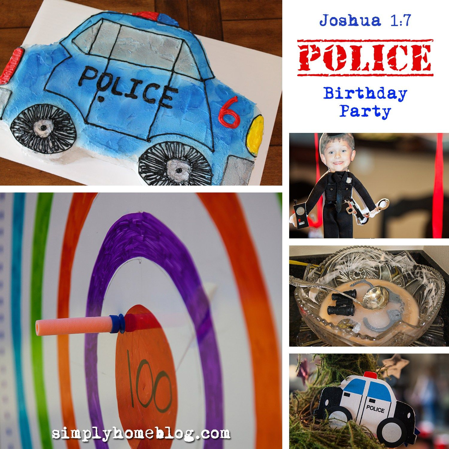 Joshua 1 7 Police Birthday Party With Free Printables