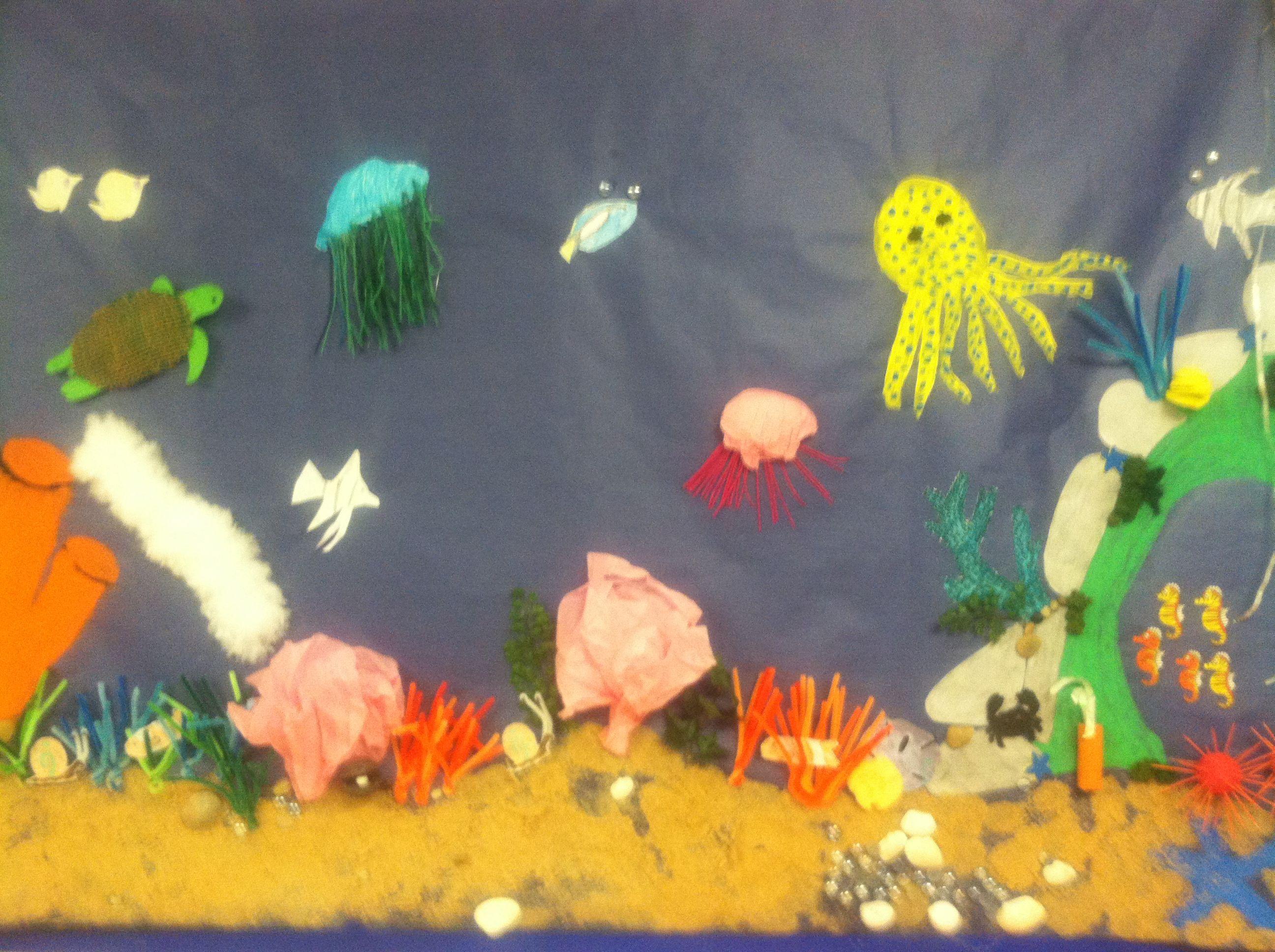 Student Created Murals On Marine Invertebrates