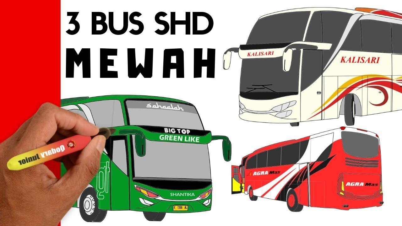 Menggambar Dan Mewarnai Bus