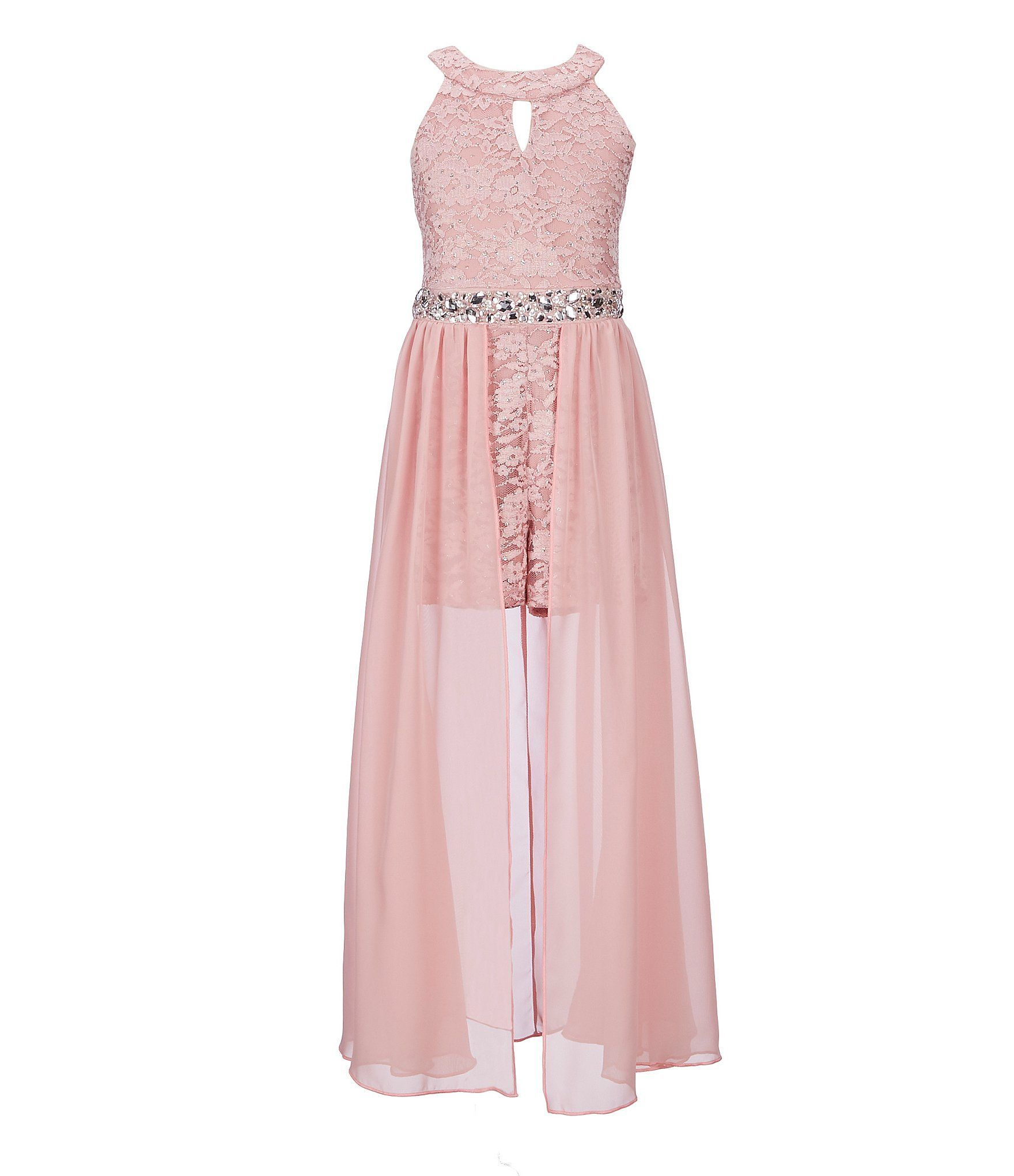 af89f7da997c Shop for Xtraordinary Big Girls 7-16 Glitter-Lace Chiffon Maxi Romper at  Dillards.com. Visit Dillards.com to find clothing