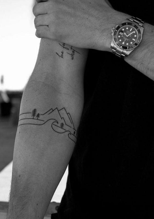 40 kleine Tattoo-Designs für Männer mit tiefen Bedeutungen #tattoodesigns