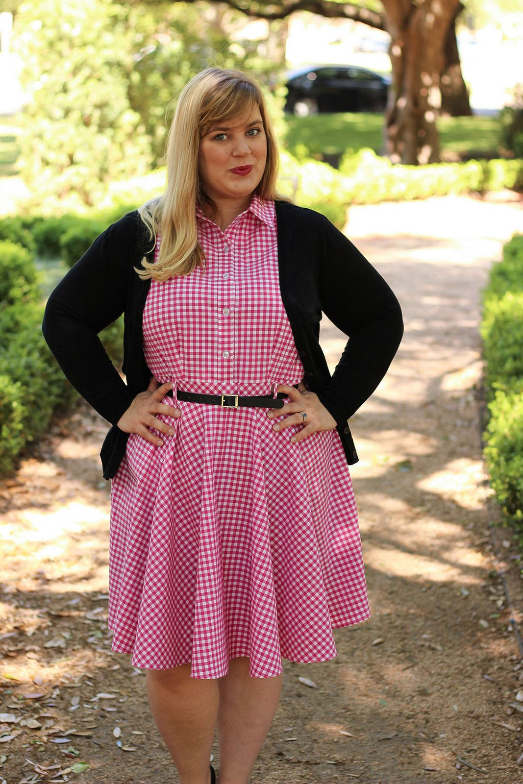 McCall\'s 7351 Pattern Hack- Idle Fancy - Pink Gingham Half ...