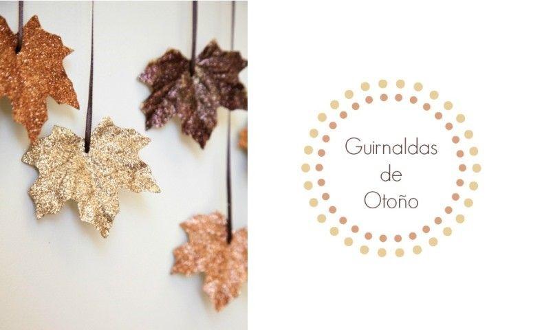DIY Guirnalda hojas de otoño   el taller de las cosas bonitas ...