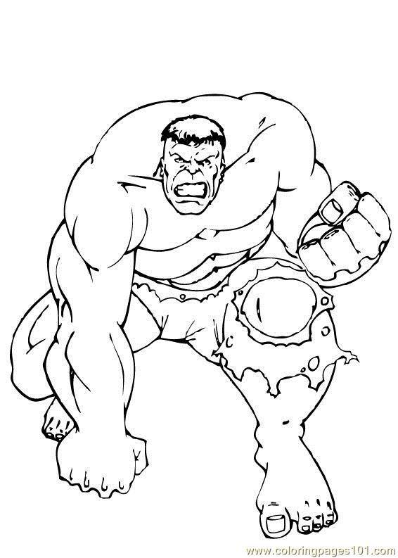 Incredible Hulk Coloring Page  RRW  Pinterest  Coloring