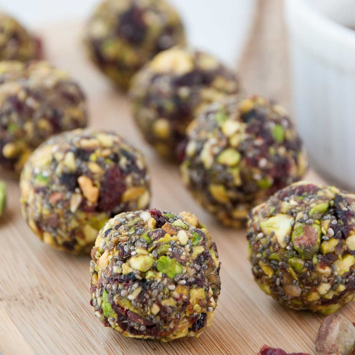 Cranberry Pistachio Honey Bites (Energy Balls)