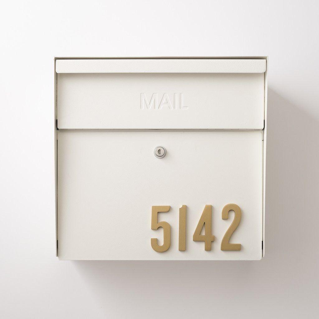 Locking Mailbox Natural White Mailbox Accessories Wall Mount Mailbox Steel Mailbox