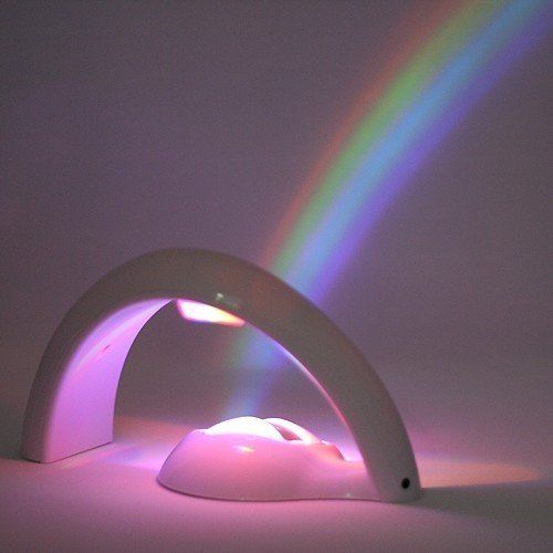 Mixed-Gadgets Room Magic Romantic Projector LED Rainbow Night Light Lamp-White: Amazon.co.uk: Lighting