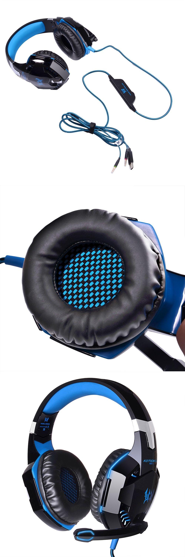 kotion each g2000 stereo gaming headphone headset deep bass wired rh pinterest com